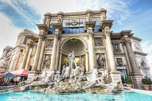Trevi fountain replica, Caesars Palace, Las Vegas, Nevada, USA