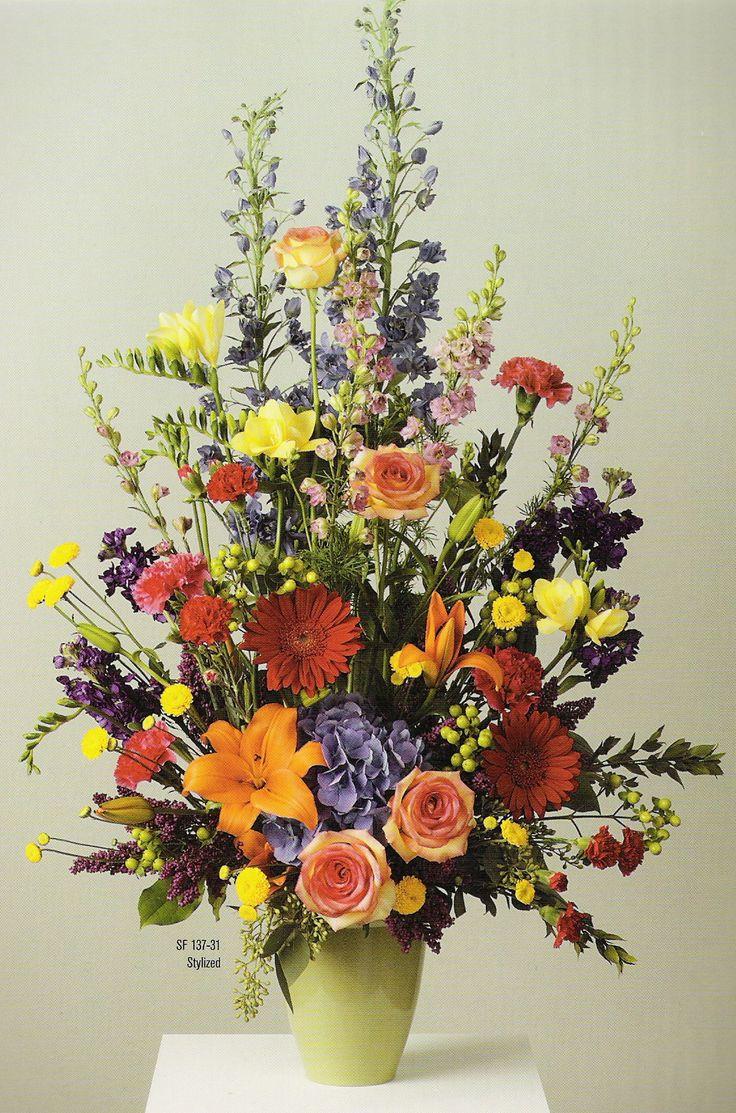 The 14 Best Funeral Flower Arrangements Images On Pinterest