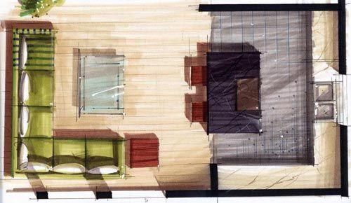 Floor Plan Elevation Markers : Marker rendering interior design google search