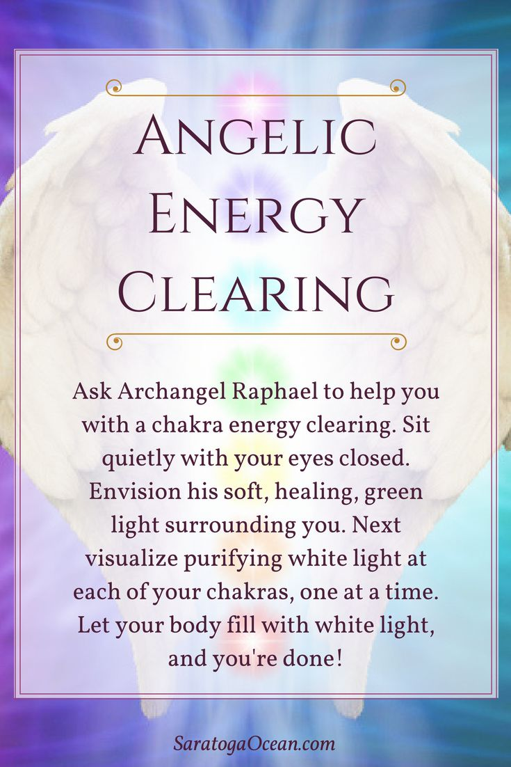 Here's a lovely way to feel refreshed: Clear your chakras with the help of Archangel Raphael, the angel of healing. Take as long or as short of a time with this as you need to purify your chakras and clear your energy. <3 <3 <3 If you enjoy meditating with your angels or you would like help connecting with their energy, download my free, guided Peaceful Angel Meditation, available on the following page: https://saratogaocean.com/angels/