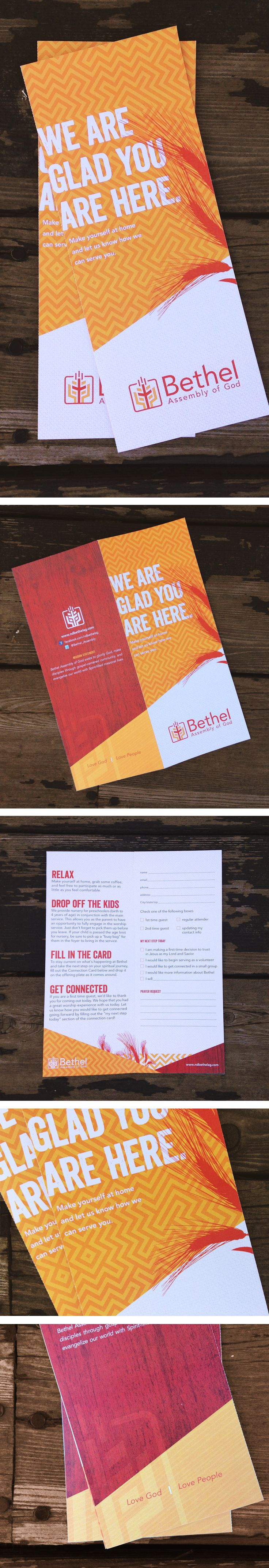 Connection card for a small North Dakotan church. #design #church #wheat