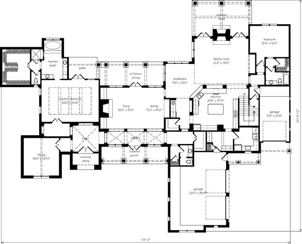 Southern Living One Story House Plan 4722pr House Plans