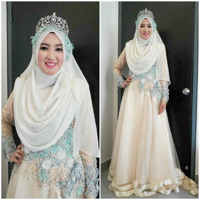 #syar'i dress pengantin muslimah - Google Search