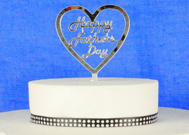 Fathers Day Acrylic Cake Topper