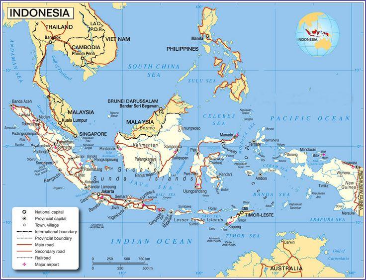Indonesia Map View terrific Indonesian scenery