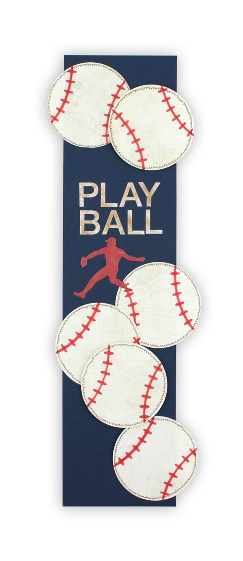 Easy baseball border idea! Simply use the Creative Memories Shape Maker with Circle Cartridge, then add stitching with red pen. #CreativeMemories www.creativememories.com