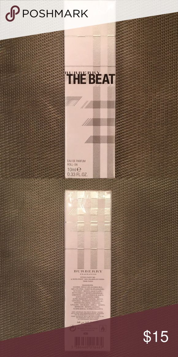 Burberry The Beat Eau De Parfum Roll-on Authentic, brand new, sealed in its original retail box. This is the roll-on , travel size 10ml / .33oz Burberry Other