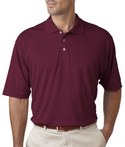 8405 UltraClub Men's Cool & Dry Sport Polo Plain Polo Shirt Maroon S, Size: Small, Red