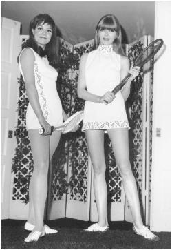 Teddy Tinling, 1967. Racket motifs