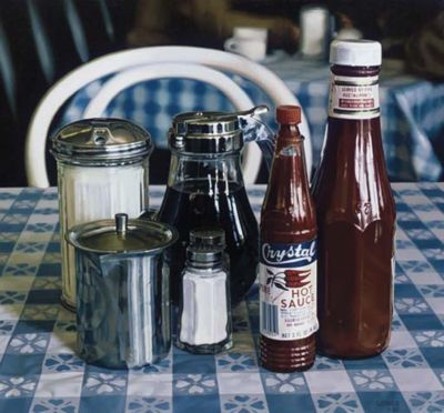 Richard Estes. Oil on Board