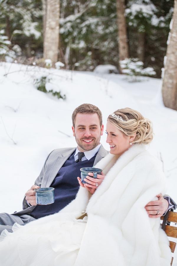 winter wedding  |  wren photography