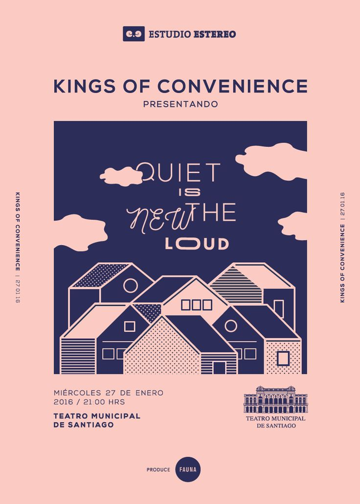 Art direction for a series of gig posters (José González, Kings Of Convenience…