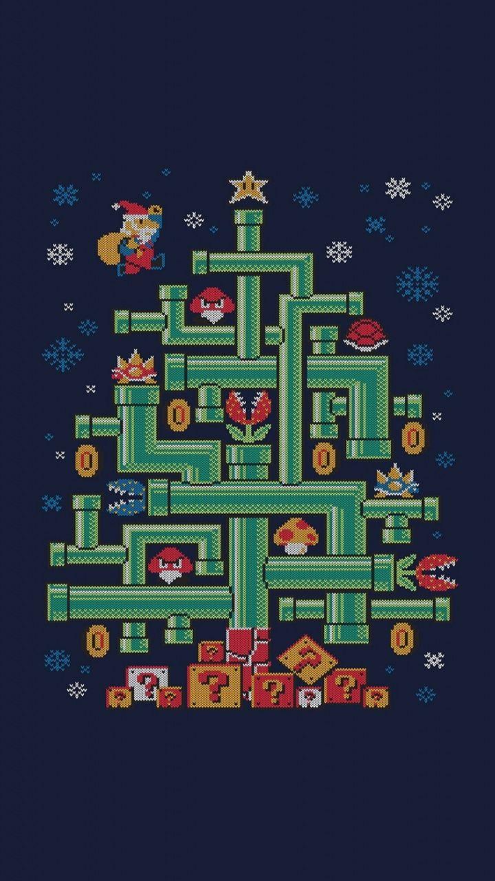 Minimal Mario 8 Bit Pixel Art 720x1280 Wallpaper Pixel Art Mario Art Geeky Wallpaper
