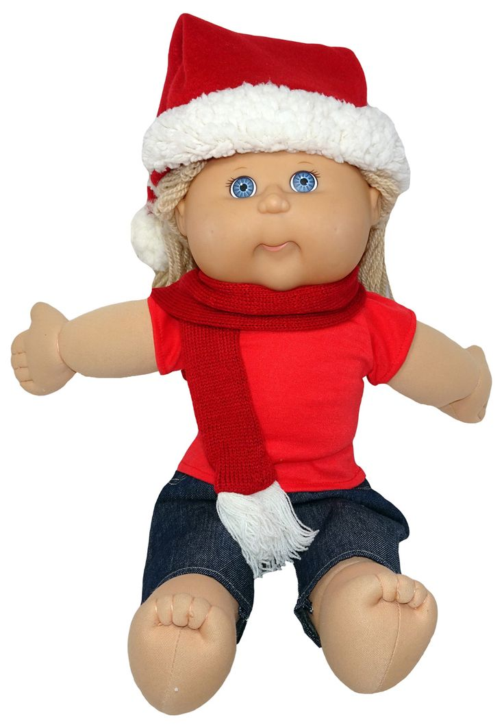 Celebrate Christmas in style this year with a cute Santa hat and matching scarf for your doll.  Suitable for most dolls 35-50cm.