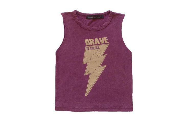 Bolt Muscle Tee Dark & Light Maroon For Baby