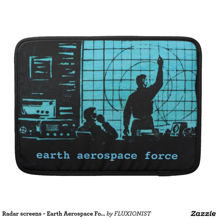 """""""Earth Aerospace Force: Control Room"""" MacBook Pro Sleeve - $71.00 Made by Rickshaw Bagworks / Design: Fluxionist -- Serious computations! Personalize this and - Save the world!"""
