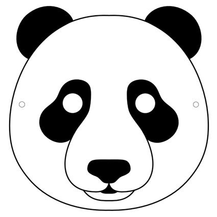 Panda Mask Printable Pinterest Pandas