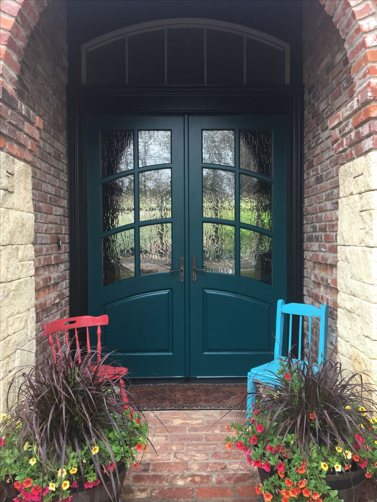 Sherwin Williams Blue Peacock Brick Exterior House Paint Red