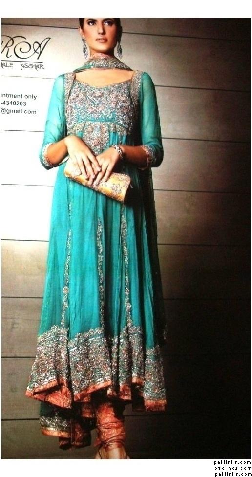 Heavy Turquoise Anarkali