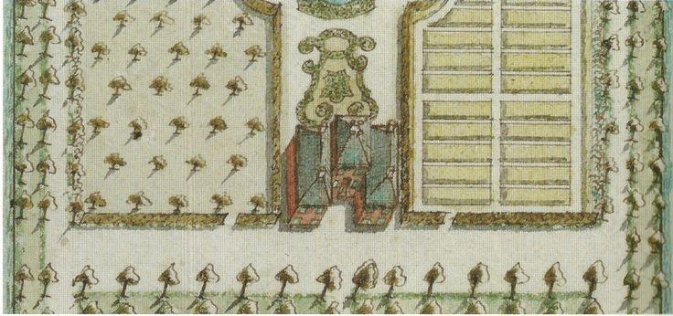 Uitsnede kaart van Dirk Klinkenberg uit 1747 ,et hoofdgebouw van 't Klooster (uit boek F.R. Hazenberg)