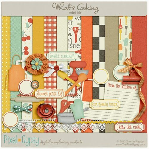 198 best digi scrap cooking and kitchen theme images for Scrapbooking cuisine