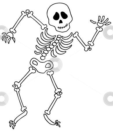 skeleton template dancing skeleton vector illustration download skeleton royalty free - Halloween Skeletons