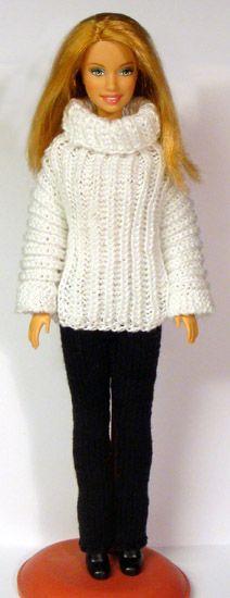 Archive of knit & crochet patterns - Barbie, Monchichichi etc ... http://www.stickatillbarbie.se/