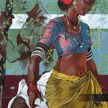 Indian Contemporary Art Nice Indian painting