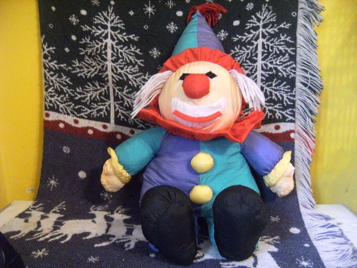 "VTG CHOSUN NYLON CLOWN PUFFALUMP STYLE PLUSH LRG SZ 20"" YARN HAIR VERY RARE! #Chosun"