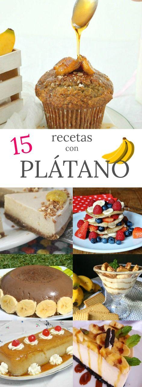 Deliciosas recetas con plátano/banana en Patty's Cake