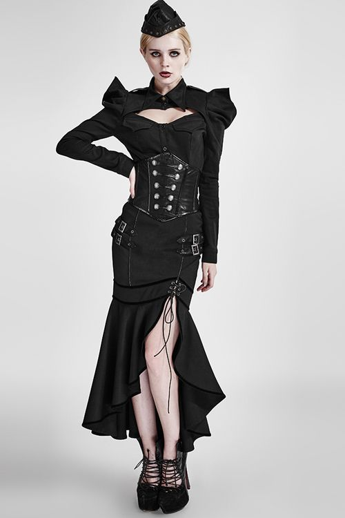 Black Azalea Fishtail Gothic Skirt by Punk Rave