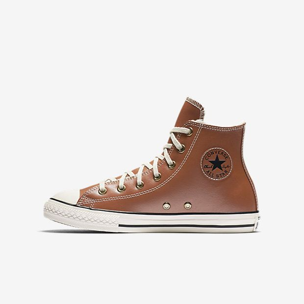Converse Chuck Taylor All Star Leather and Faux Shearling High Top Little/Big  Kids'. Zapatos De ...
