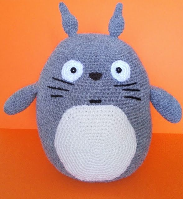 Totoro, szydełko, amigurumi, crochet, DIY, geek