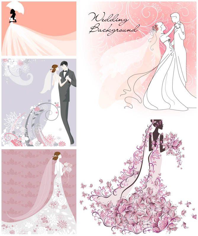 Wedding Illustrations   Bride illustrations wedding vector