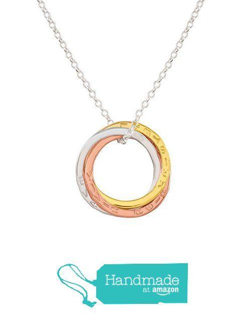 Colgante tres anillos Ruso tricolor entrelazados de plata esterlina chapados en oro. de Promise Designs handmade personalised jewellery https://www.amazon.es/dp/B01K7JPGXY/ref=hnd_sw_r_pi_dp_BKAiybECVDZ2D #handmadeatamazon