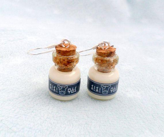 Legend Of Zelda Lon Lon Milk Earrings, Choice of Sterling Silver Hooks :D