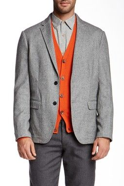 Onassis Two Button Notch Wool Blend Blazer