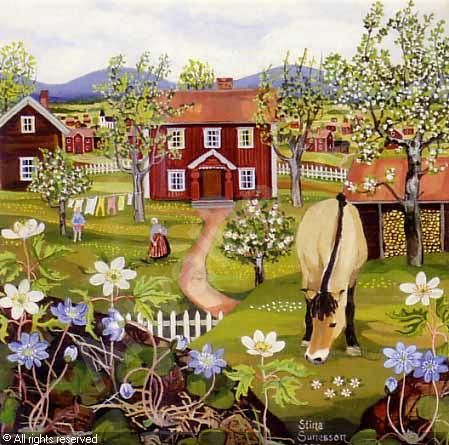 SUNESSON Stina,Vårlandskap - Motiv från Tällberg,Bukowskis,Stockholm