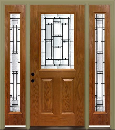 Mastercraft Venice 36 X 80 Fiberglass Ext Door With 14 Sid