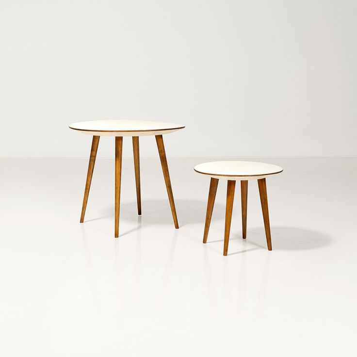 Gio Ponti; Oak and Melemime Prototype Tables, 1960s.
