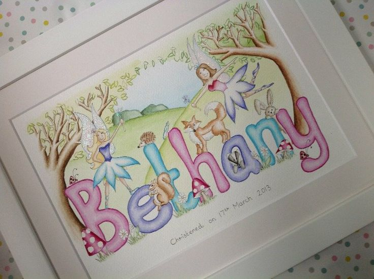 Bethany woodland fairy name painting