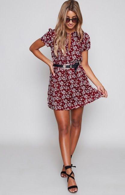 Di Bella Dress Red Dahlia