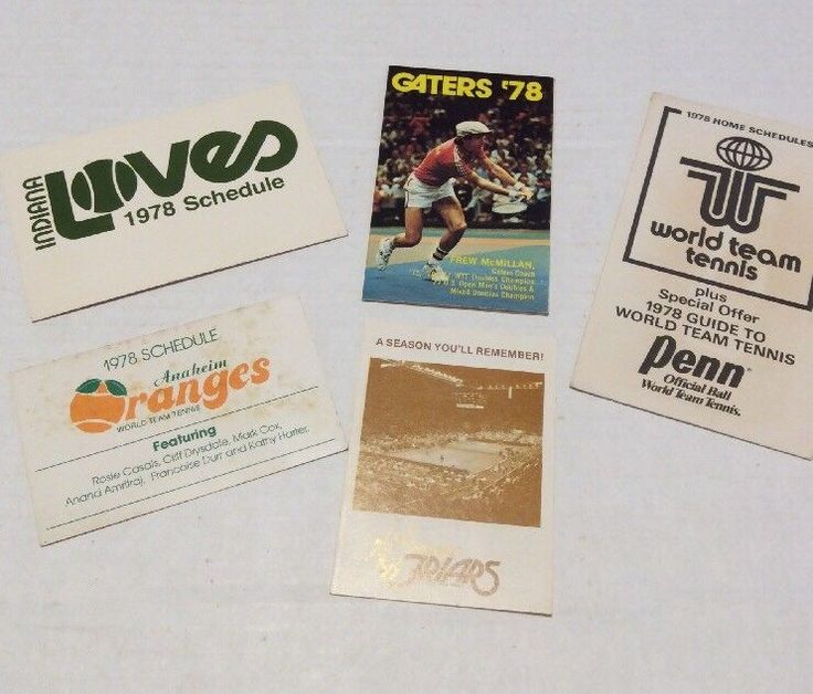 Item specifics     Year:   1978   Lot Of:   5     Sport:   Tennis   Team:   SAN FRANCISCO GOLDEN GATERS 1978     Team-Baseball:   SAN DIEGO FRIARS  ... - #Tennis https://lastreviews.net/sports-fitness/tennis/wtt-world-team-tennis-schedule-5-lotdefunct-leaguefriarslovegatersoranges/