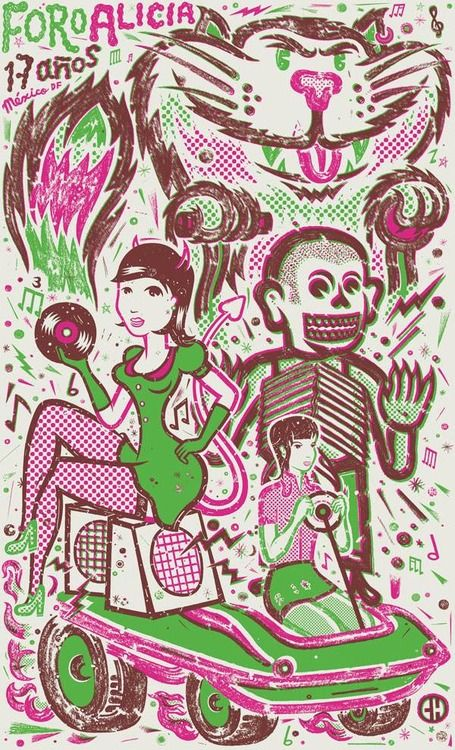 carteles del rock Mexicano.