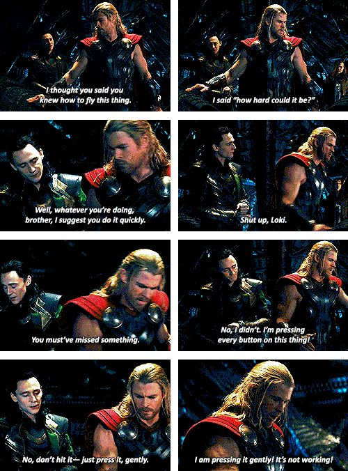 That moment in Thor: The Dark World where you really believed Thor and Loki were siblings. (Click through for gifs).