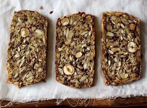 "Sarah Britton is a Toronto-born, Copenhagen-based holistic nutritionist. Such good bread makers, they are. Says nutritionist Sarah Britton, who gave us the recipe: ""What if I told you that if you don't have hazelnuts, you could use almonds? Studded with sunflower seeds, chia seeds, and almonds, it's"