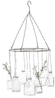 Wire Hanging Glass Vases [ad]
