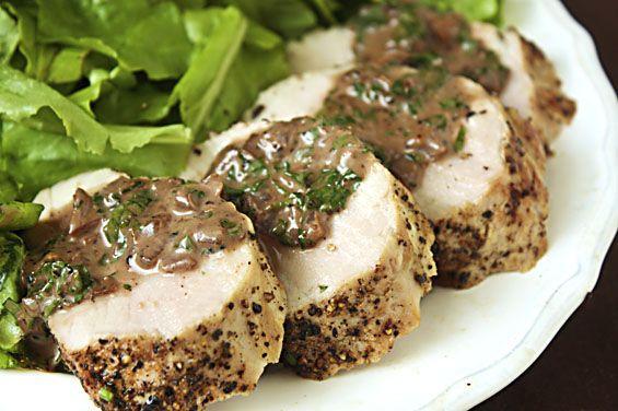 Pork peppercorn pork tenderloin