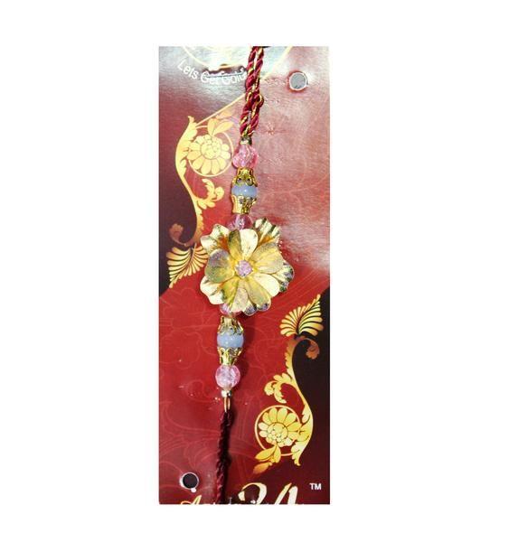 Raksha Bandhan Special 24k Gold Foil Rakhi Online at DevotionalStore.#Raksha Bandhan #Rakhi #RakhiOnline #DevotionalStore