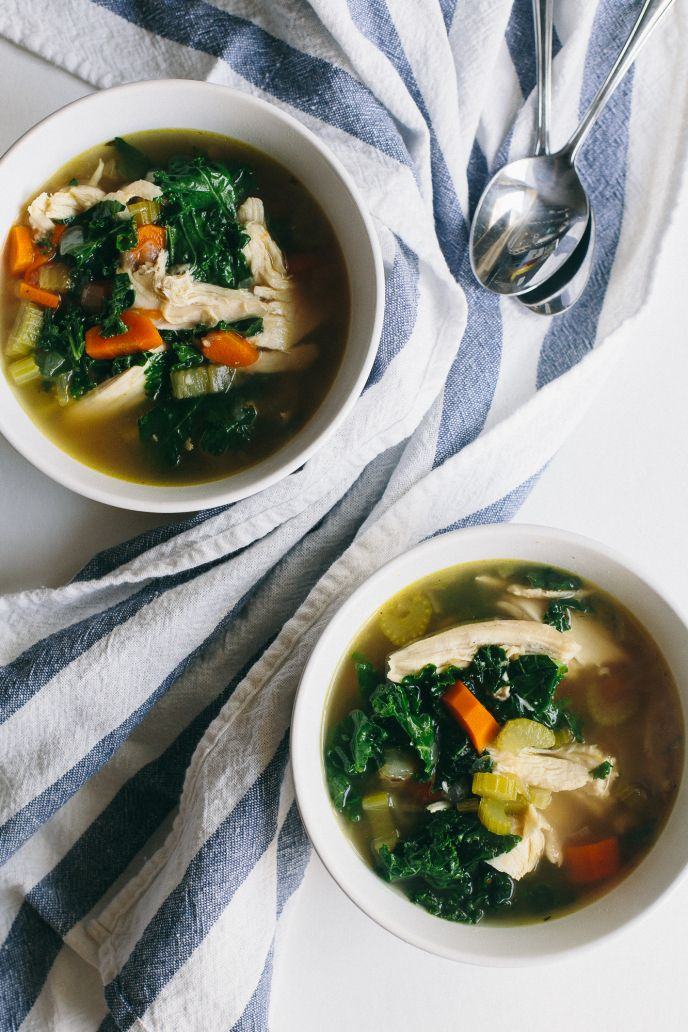 Instant Pot (Pressure Cooker) Chicken Soup with Kale   The Domestic Man